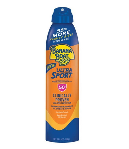 Banana Boat Sport UltraMist Sunscreen, SPF 50 - 9.5 oz bottle