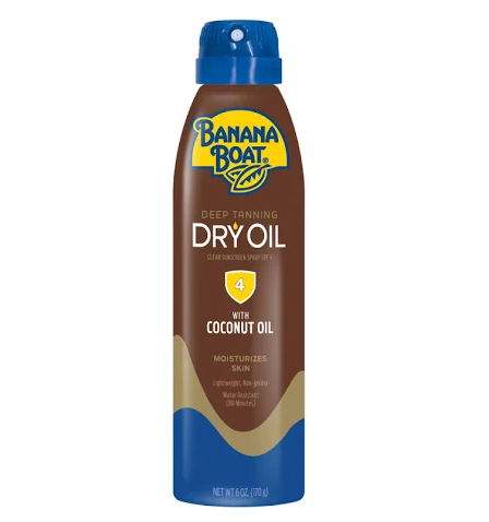 Banana Boat Deep Tanning Dry Oil, SPF 4 - 6 fl oz bottle