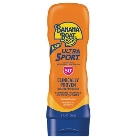 Banana Boat Sport Performance Sunscreen, Lotion, Broad Spectrum SPF 50+ - 8 fl oz