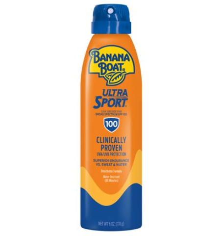 Banana Boat Ultra Sport Clear Sunscreen Spray SPF 100, 6 oz