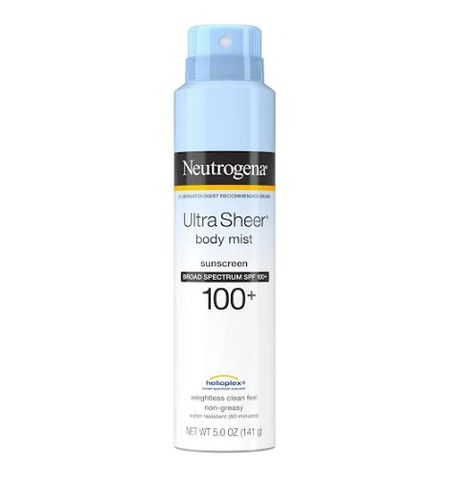 Neutrogena Ultra Sheer Lightweight Sunscreen Spray - SPF 100+ - 5oz
