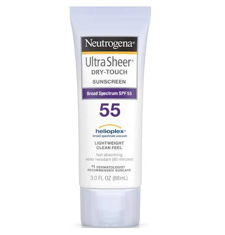 Neutrogena Ultra Sheer Dry-Touch Sunscreen, Broad Spectrum SPF 55 - 3 fl oz tube