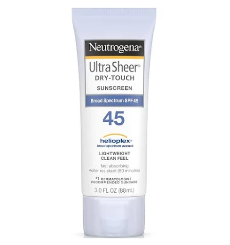 Neutrogena Ultra Sheer Dry-Touch Sunscreen Broad Spectrum SPF 45, 3 Oz