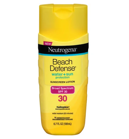 Neutrogena Beach Defense Sunscreen Lotion Broad Spectrum SPF 30, 6.7 Oz