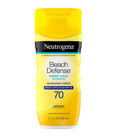 NEUTROGENA BEACH DEFENSE Sunscreen Lotion Broad Spectrum SPF 70, 6.7 Oz