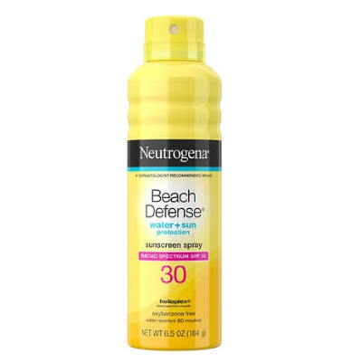 Neutrogena Beach Defense Sunscreen Spray, SPF 30 - 6.5 oz can