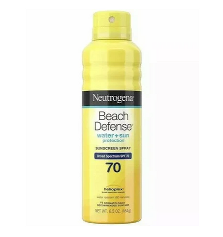 Neutrogena Beach Defense Water + Sun Barrier Sunscreen Spray SPF 70 - 6.5 oz can