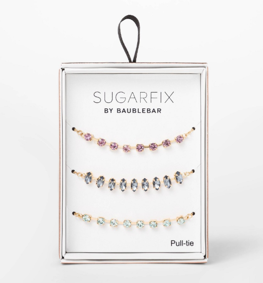 SUGARFIX by BaubleBar Crystal Statement Bracelet Gift Set - Blue/Purple/Green