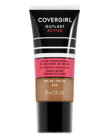 COVERGIRL Outlast Active Foundation 870 Toasted Almond - 1 fl oz
