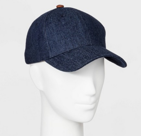 Women's Cotton Baseball Hat -  Blue