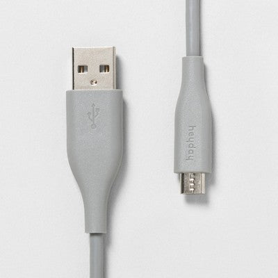 heyday™ 3' Micro-USB to USB-A PVC Round Cable - Wild Dove