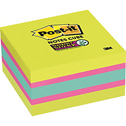 Post-it(R) Super Sticky Notes Cubes - 3in. x 3in. - Square - 360 Sheets