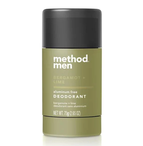 Method Men Aluminum Free Deodorant Bergamot + Lime - 2.65oz