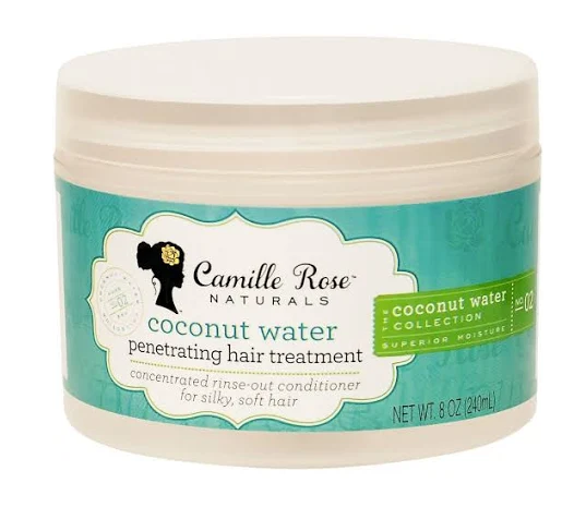 Camille Rose Coconut Water Penetrating Hair Treatment - 8 oz jar