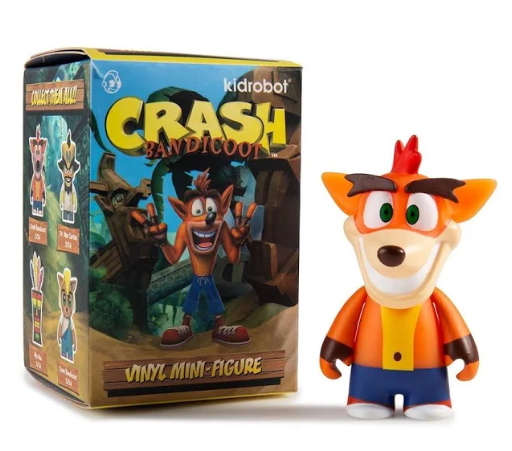 Crash Bandicoot Vinyl Blind Box Figure Kidrobot Mini Series Mystery