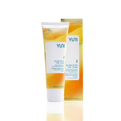 YUNI Beauty Glow with the Flow Face & Body Scrub - 4oz.
