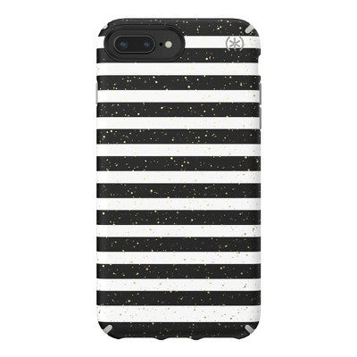 Speck Apple iPhone 8 Plus/7 Plus/6s Plus/6 Plus Inked Case - Striped Gold Speckled/Marble Gray