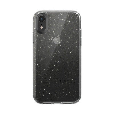 Speck Apple iPhone XR Presidio Clear + Glitter Case - Clear (with Gold Glitter)