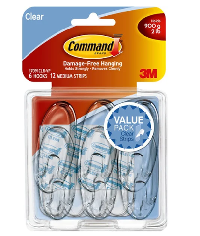 Command Damage-Free Small and Medium Picture Hanging Strips - White