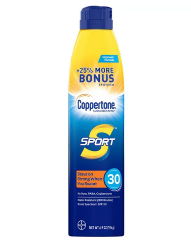 Coppertone Sport High Performance Spf 30 Spray Sunscreen 6.9oz