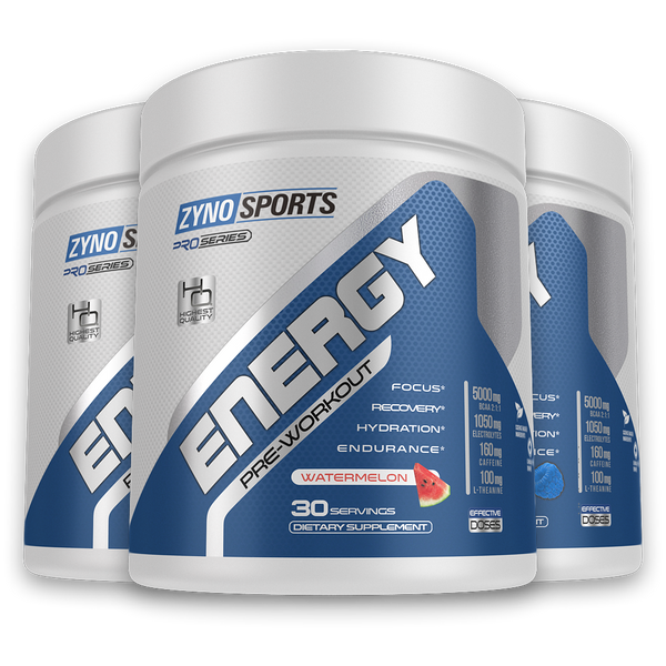 Zyno Sports Energy Triple Stack