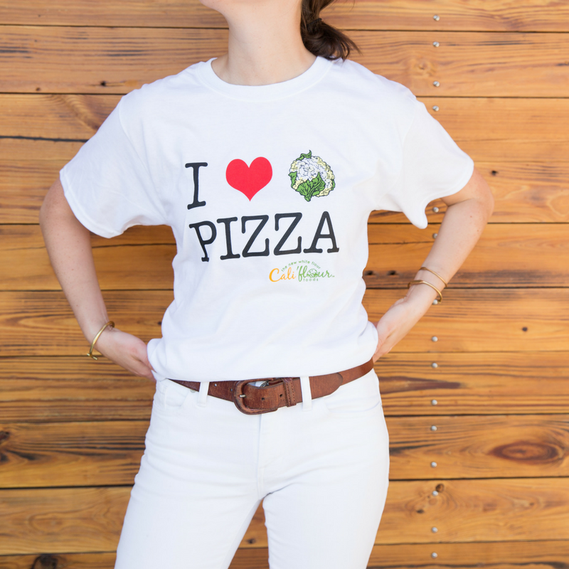 I Love Cali'flour Pizza T-Shirt
