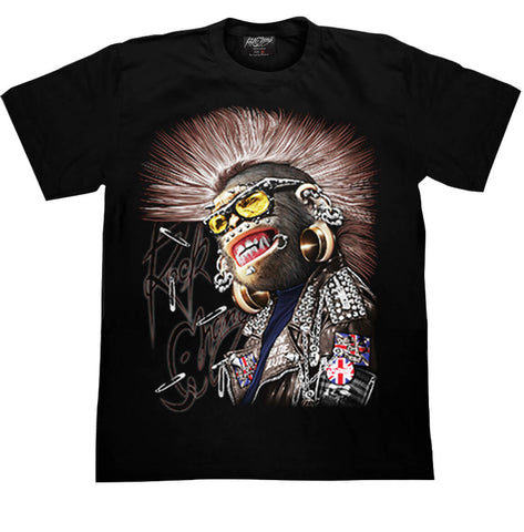 Graphic T-shirt Punk Monkey