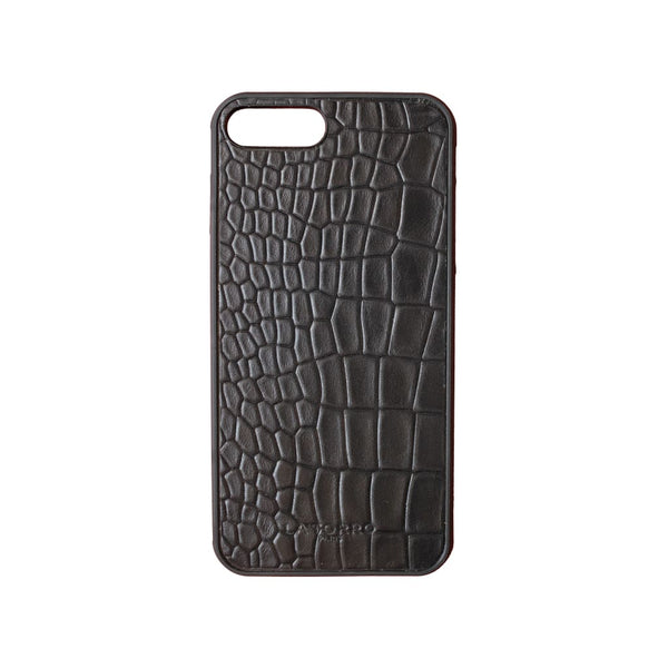 Black Crocodile-Style Iphone 7+ / 8+ Case - Iphone Case