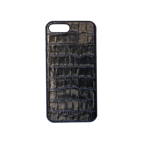 Black Crocodile-Style Iphone 7+/8+ Case - Iphone Case