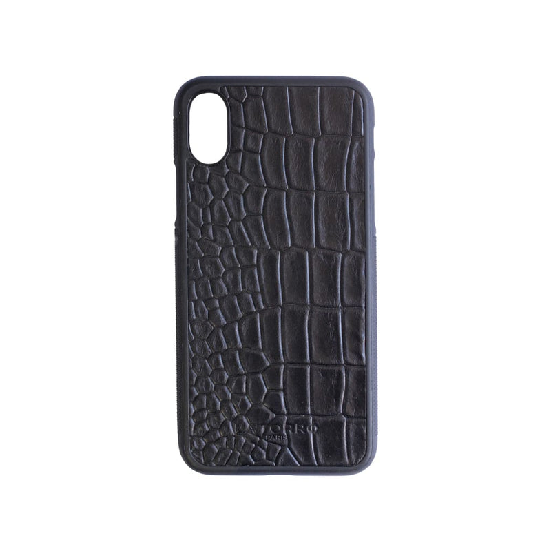 Black Crocodile-Style Iphone X/xs Case - Iphone Case