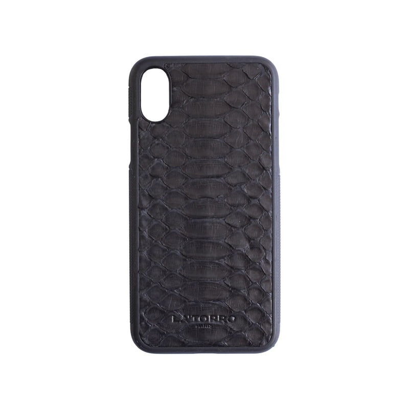 Black Python Snakeskin Iphone X/xs Case - Iphone Case