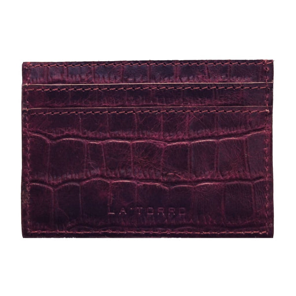Burgundy Torro Card Holder - Card Holder
