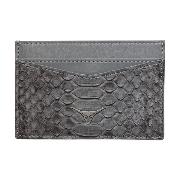 Grey Python Snakeskin Card Holder - Card Holder