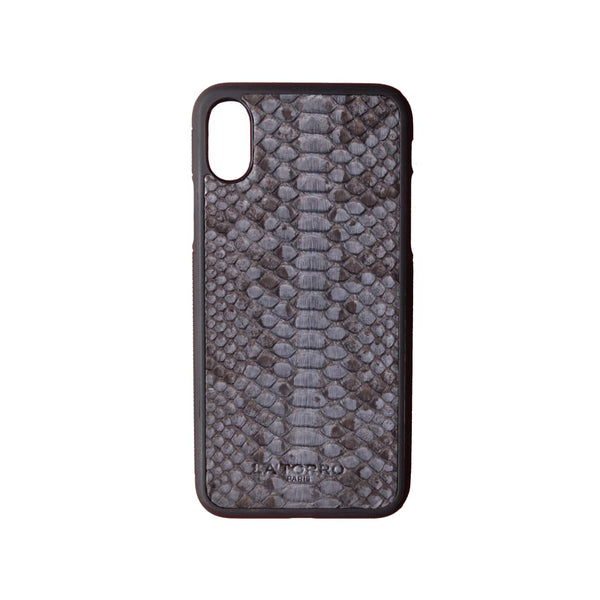 Grey Python Snakeskin Iphone X/xs Case - Iphone Case