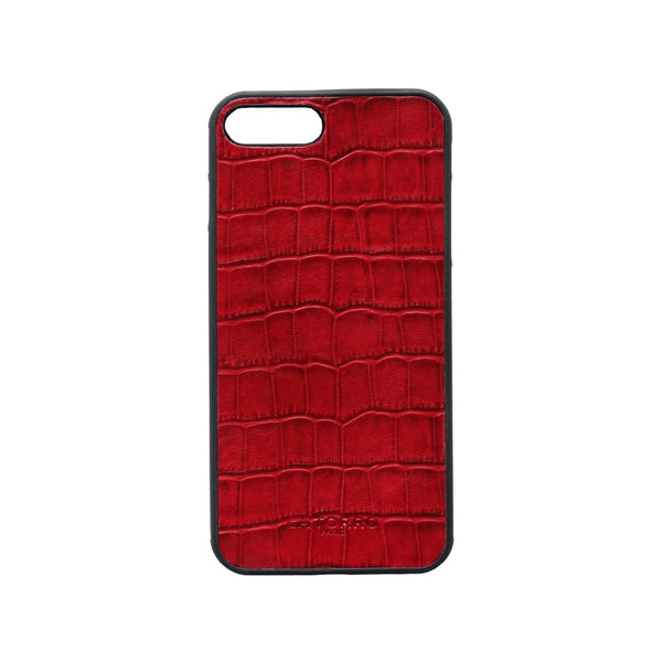 Red Crocodile-Style Iphone 7+/ 8+ Case - Iphone Case