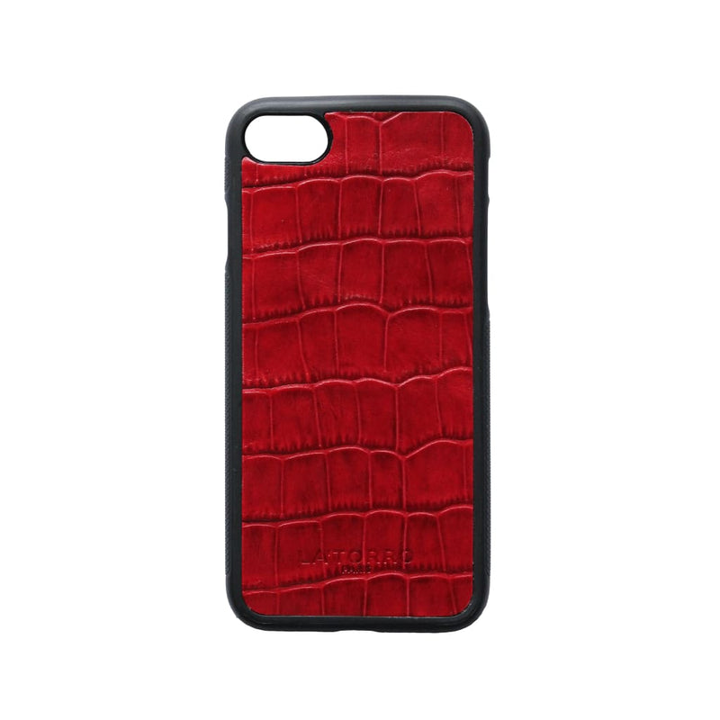 Red Crocodile-Style Iphone 7/8 Case - Iphone Case