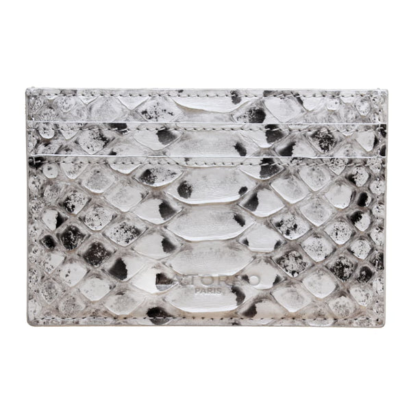 White Python Snakeskin Card Holder - Card Holder