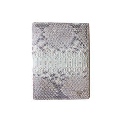 White Python Snakeskin Passport Case - Passport Case