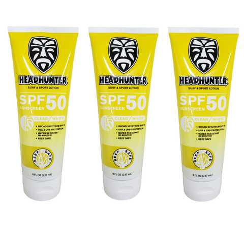 Headhunter Organic Surf Wax-Cool Temp 58'-68' / 3 Pack with Sticker