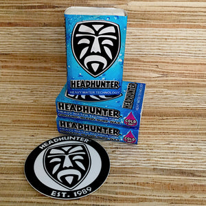 Headhunter Organic Surf Wax-Cold / Temp below 60' / 3 pack with Sticker