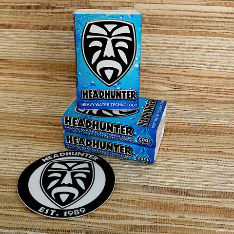 Headhunter Organic Surf Wax-Warm Temp 64'-74'/ 3 Pack with Sticker