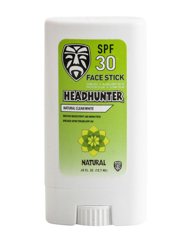 SPF 30 Sunscreen Natural Face Stick - Clear / White