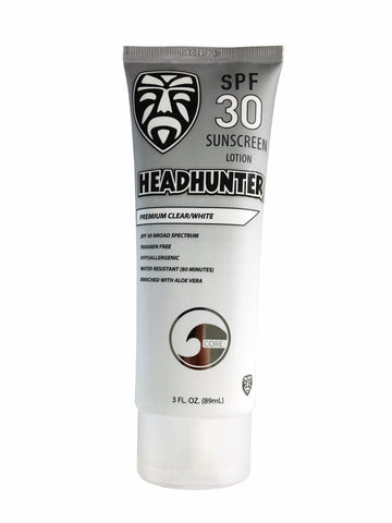 SPF 30 Sunscreen Cream - Clear / White  (HWT)