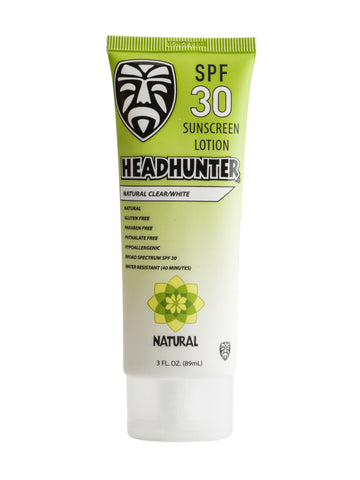 SPF 30 All Natural Sunscreen Cream-Clear / White