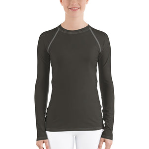 Women's UPF 40+ Rash Guard - Dark Gray