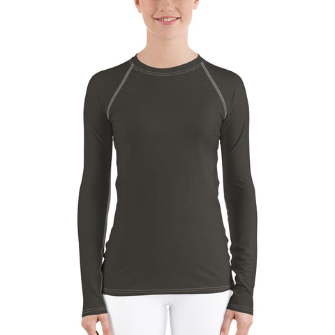 Women's UPF 40+ Rash Guard - Lilly Pad