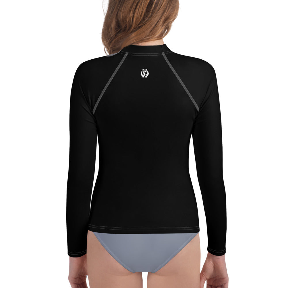 Girls Youth Rash Guard - Black