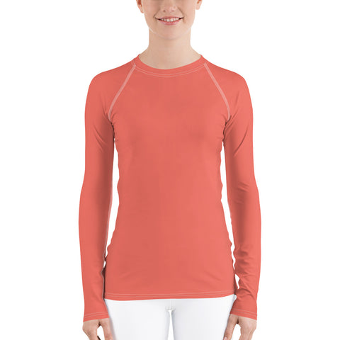 Women's UPF 40+ Rash Guard - Hello Yello