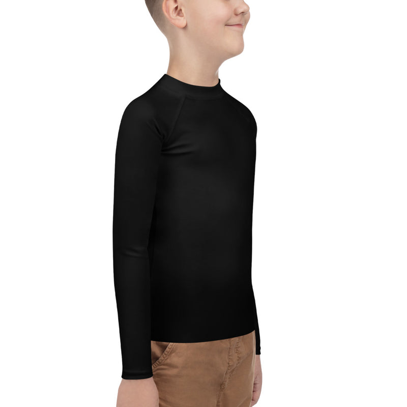 Boys Youth Rash Guard - Black