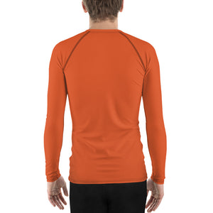 Men's UPF 40+ Rash Guard - Orange Crush